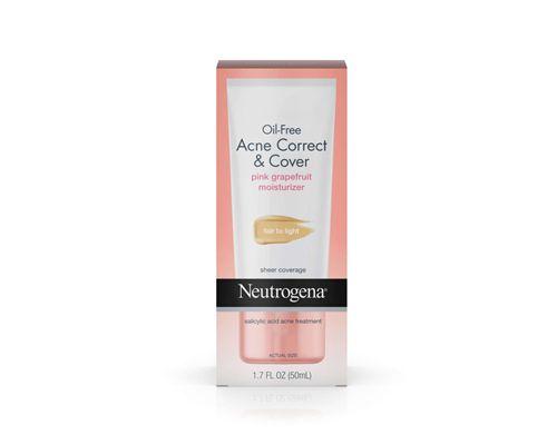 Neutrogena Oil Free Acne Correct Cover Pink Grapefruit Moisturizer