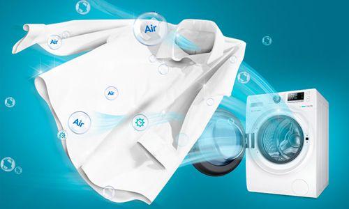 Fitur Air Bubble Wash Untuk Membersihkan Noda Lebih Maksimal