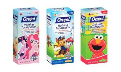 Orajel Sesame Street Training Toothpaste Fluoride Free