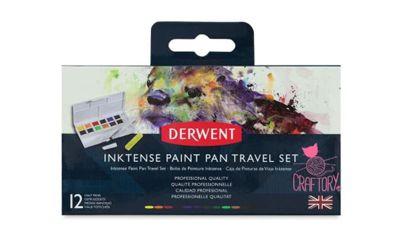Derwent Inktense Paint Pan Travel Set 12 Colours