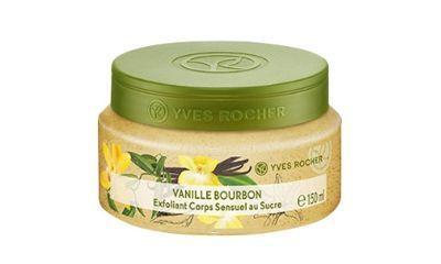 Yves Rocher Sensual Sugar Body Scrub Bourbon Vanilla Jar